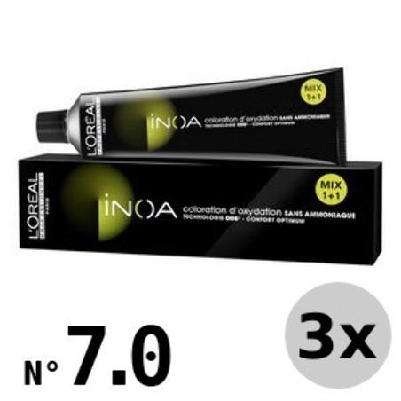 Inoa 7.0 blond moyen intense - 3x60ml