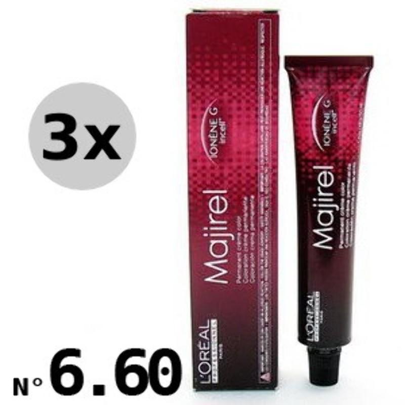 Majirouge 6.60 Blond Foncé Rouge Profond- 3x50ml