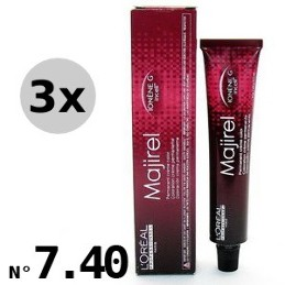 Majirouge 7.40 Blond cuivré intense - 3x50ml