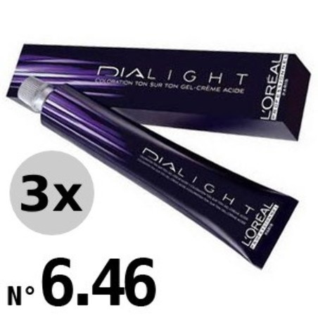 Dialight 6.46 Blond foncé cuivré rouge - 3x50ml