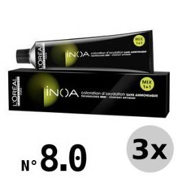 Inoa Blond clair ultra profond 8.0 - 3x60ml