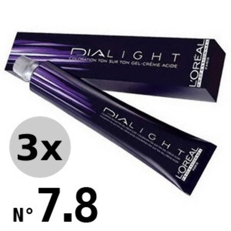 Dialight 7.8 Blond Mocca - 3x50ml