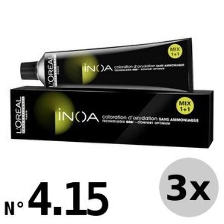 Inoa 4.15 Châtain cendré acajou - 3x60ml