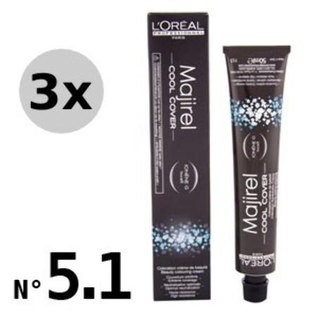 Majirel Cool Cover 5.1 Châtain clair cendré - 3x50ml