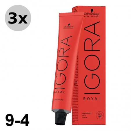 Igora Royal 8-4 Blond Clair Beige 3x60ml