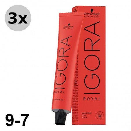 Igora Royal 8-11 Blond clair cendré extra - 3x60ml
