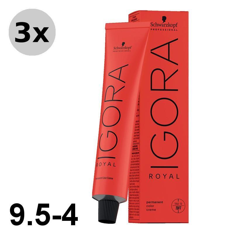 Igora Royal 4-5 Châtain moyen doré - 3x60ml