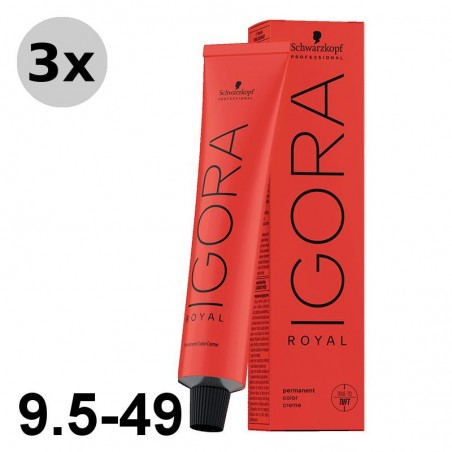 Igora Royal 7-55 Blond moyen doré extra - 3x60ml