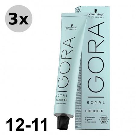 Igora Royal 9-7 Blond très clair cuivré - 3x60ml