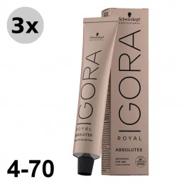 Igora Royal Absolutes 6-60 Blond foncé marron naturel - 3x60ml
