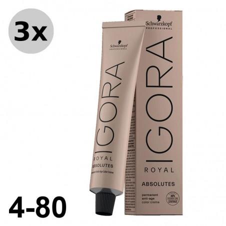 Igora Royal Absolutes 7-60 Blond moyen marron naturel - 3x60ml